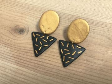 Picture of Pendientes Oro Negro