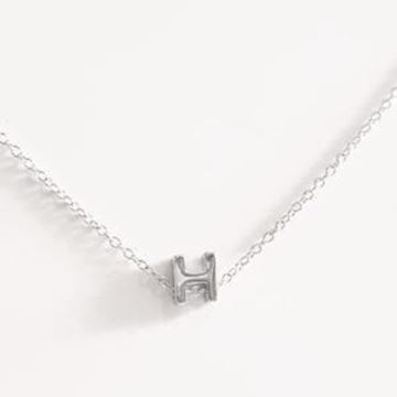 Picture of COLLAR PLATA INICIAL LETRA H RODIO